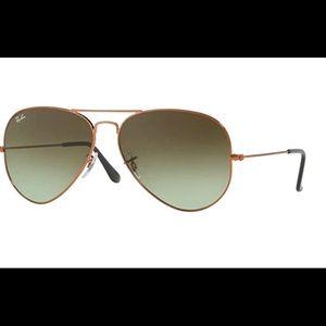 RayBan RB3026 Green/Bronze Aviator Sunglasses